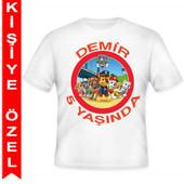 - Paw Patrol Kişiye Özel Baskılı T-shirt