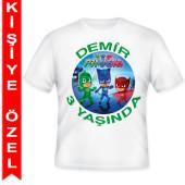 - PJ Maskeliler Kişiye Özel Baskılı T-Shirt