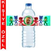 - PJ Maskeliler Kişiye Özel Su Şişesi Bandı