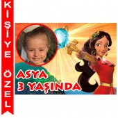 - Prenses Elena Kişiye Özel Fotoğraflı Magnet