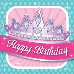 - Prenses Partisi Happy Birthday Peçete