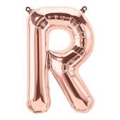 - R Harfi Rose Gold Folyo Balon