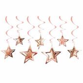 - Rose Gold 3 Boyutlu Yıldızlar Tavan Süsü
