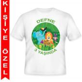 - Safari Hayvanlarım Kişiye Özel Baskılı T-shirt
