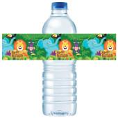 - Safari Hayvanlarım Su Şişesi Etiketi