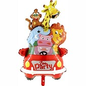 - Safari Zoo Party Jumbo Folyo Balon