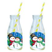 - Sevimli Kardan Adamlar Limonata-Meşrubat Şişesi
