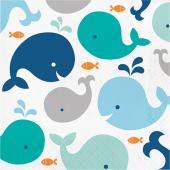 - Sevimli Mavi Balinalar Büyük Peçete