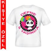 - Sevimli Panda Kişiye Özel Baskılı T-Shirt