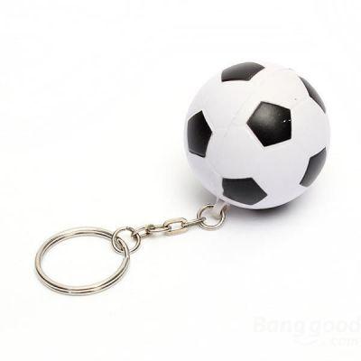 Siyah Beyaz Futbol Topu Anahtarlık