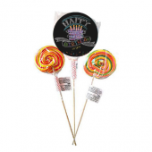 - Siyah Happy Birthday Lolipop (20gr.)