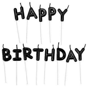 Siyah Happy Birthday Mum Seti