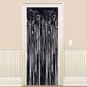 - Siyah Kapı - Duvar Folyo Fon Perdesi