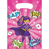- Süper Kahraman Kız Hediye Poşeti