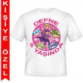 - Süper Kahraman Kız Kişiye Özel Baskılı T-Shirt