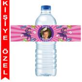 - Süper Kahraman Kız Kişiye Özel Su Şişesi Bandı