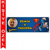 - Süperman Kişiye Özel Afiş