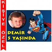 - Superman Kişiye Özel Fotoğraflı Magnet