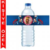- Süperman Kişiye Özel Su Şişesi Bandı