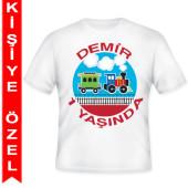 - Trenlerim Partisi Kişiye Özel Baskılı T-Shirt