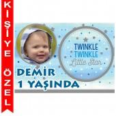 - Twinkle Little Star Erkek Kişiye Özel Fotoğraflı Magnet