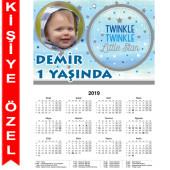 - Twinkle Little Star Erkek Kişiye Özel Takvim