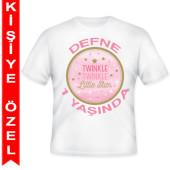 - Twinkle Little Star Kız Kişiye Özel Baskılı T-Shirt