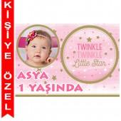 - Twinkle Little Star Kız Kişiye Özel Fotoğraflı Magnet