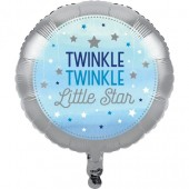 - Twinkle Little Star Mavi Folyo Balon