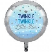 - Twinkle Little Star Mavi Folyo Balon