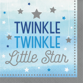 - Twinkle Little Star Mavi Büyük Peçete