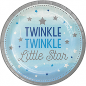 - Twinkle Little Star Mavi Büyük Tabak