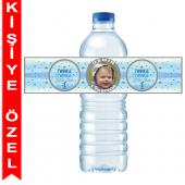 - Twinkle Little Star Mavi Kişiye Özel Su Şişesi Bandı