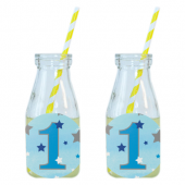 - Twinkle Little Star Mavi Limonata-Meşrubat Şişesi