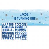 - Twinkle Little Star Mavi Yazılabilir Afiş