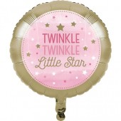 - Twinkle Little Star Pembe Folyo Balon