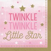 - Twinkle Little Star Pembe Büyük Peçete