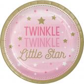 - Twinkle Little Star Pembe Büyük Tabak