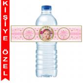- Twinkle Little Star Pembe Kişiye Özel Su Şişesi Bandı