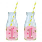 - Twinkle Little Star Pembe Limonata-Meşrubat Şişesi