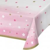 - Twinkle Little Star Pembe Masa Örtüsü