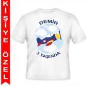 - Uçaklar Partisi Kişiye Özel Baskılı T-Shirt