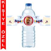 - Uçaklar Partisi Kişiye Özel Su Şişesi Bandı