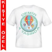 - Uçan Balon Kişiye Özel Baskılı T-Shirt
