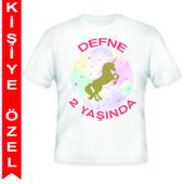 - Unicorn Partisi Kişiye Özel Baskılı T-shirt