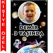 - Uzay Partisi Kişiye Özel Fotoğraflı Afiş