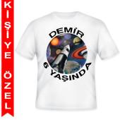 - Uzay Partisi Kişiye Özel Baskılı T-Shirt