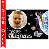 - Uzay Partisi Kişiye Özel Fotoğraflı Magnet