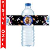 - Uzay Partisi Kişiye Özel Su Şişesi Bandı