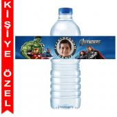 - Yenilmezler / Avengers Kişiye Özel Su Şişesi Bandı